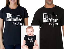 godmother shirt godfather shirt goddaughter onesie or baby