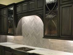 white beveled subway tile offset installation brick shower