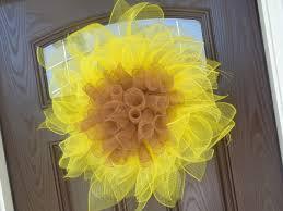 sunflower wreath easy deco geo mesh sunflower wreath tutorial