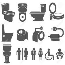 toilet and wc symbol set royalty free cliparts vectors and stock