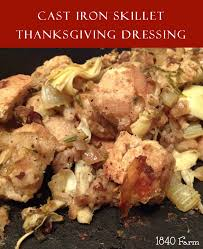 recipe thanksgiving dressing cast iron skillet thanksgiving dressing 1840farm com