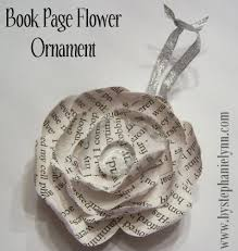 recycled book page flower ornament no 3 bystephanielynn