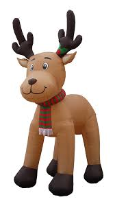 Outdoor Reindeer Decorations Amazon Com Jumbo 15 Foot Christmas Inflatable Reindeer Decoration