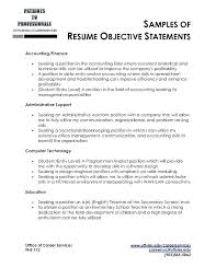 objective on resume exles accounting objective resume exles sle objectives for entry