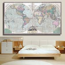 Canvas Map Of The World by Online Get Cheap Framed Map Pictures Aliexpress Com Alibaba Group