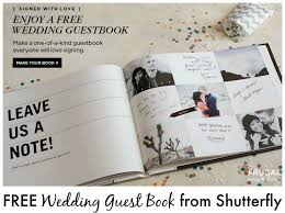 wedding registry book guest book free wedding guest book from shutterfly it s back