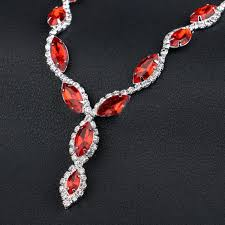 red necklace women images Elegant jewelry sets for women jolchaya jpg