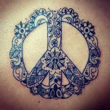 pin peace sign and flowers designs flower tattoos on
