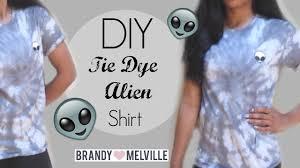 diy tie dye alien shirt brandy melville inspired youtube