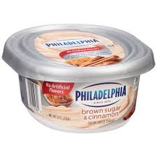 philadelphia light cream cheese spread philadelphia brown sugar cinnamon cream cheese spread 8 oz