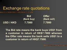 bid rate foreign exchange exchange rate is the price of a currency in terms