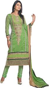 chakudee by white green chanderi drees material amazon in