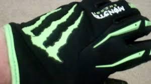 motocross monster energy gear ricky dietrich replica o u0027neal monster energy gloves youtube