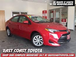 east coast toyota used cars 2017 toyota corolla in jersey for sale 273 used cars from