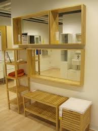Ikea Molger Bench Ikea Molger Mirrors With Shelf Giving Extra Dimension To The