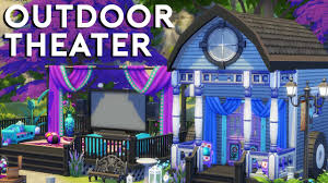 home outdoor theater the sims 4 speed build outdoor theater youtube