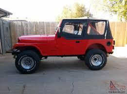 red jeep 2 door jeep cj7 base sport utility 2 door 5 0l
