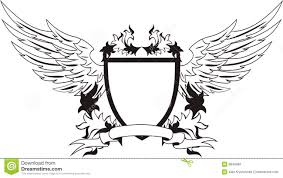 vintage shield with wings for your design vector i stock vector