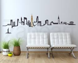 new york wall decal etsy new york city skyline wall decal