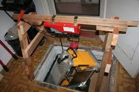 basement hoist by woodensoldier lumberjocks com woodworking