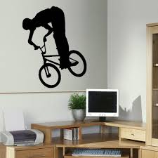 online buy wholesale bedroom stencils from china bedroom stencils free shipping bmx trick children wall art bedroom sticker transfer poster stencil decal 3 sizes