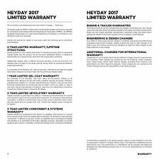 Upholstery Terms Wt 1 U0026 Wt 2 Brochure U2014 Heyday Boats