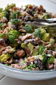 bacon sunflower seeds broccoli onions bacon sunflower seeds cranberries and