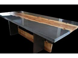 concrete and wood dining table concrete and wood table by keelin kennedy polished concrete wood