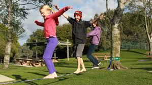 walk the line with gibbons slacklines total playgrounds