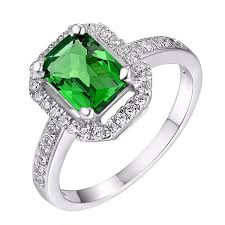 halo rings red images Helenite halo ring rectangular shape green or ruby red silver jpg