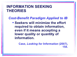 Seeking Vost Information Seeking Theories And Models