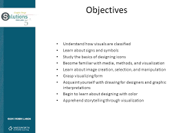 objectives understand how visuals are classified ppt download