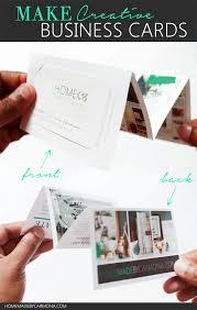 how to make a fold out portfolio business card