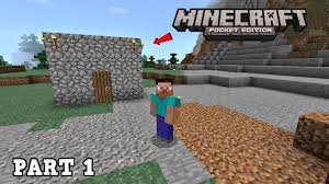 Build A House Online Free Minecraft Pocket Edition Ios Part 1 Building A House