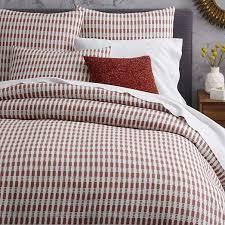 Organic Queen Duvet Cover Mid Century Organic Ladder Stripe Jacquard Duvet Cover Shams