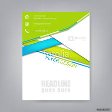 business flyer brochure template or corporate banner