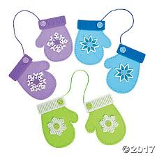 winter mittens ornament craft kit trading
