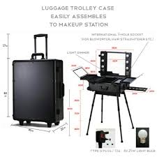 portable hair and makeup stations makeup station vanity mirror portable trolley w legs health