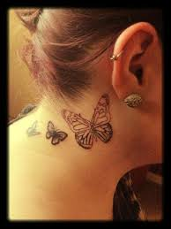 side neck butterfly tattoos for butterfly side tattoos for