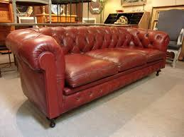 Vintage Chesterfield Leather Sofa Vintage Chesterfield Sofa In Leather Sold