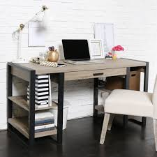 Desk With Computer Storage 60 Inch Blend Storage Desk Free Shipping Today Overstock