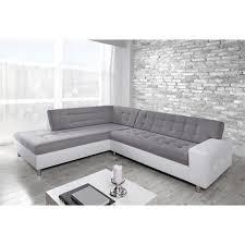 gros canapé grand canapé d angle gauche java gris blanc acheter moins cher