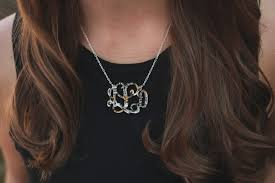 Monogram Necklaces Floating Monogram Necklace My Capital Letters