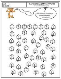 number hunt worksheet for kids 14 busy bags pinterest