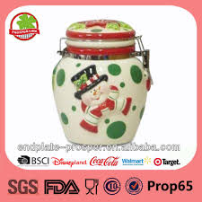 kitchen canisters ceramic red ceramic kitchen canisters in christmas design buy red