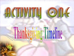 activity one thanksgiving timeline activity two thanksgiving