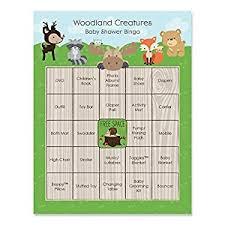 woodland creature baby shower woodland creatures baby shower bingo cards 16