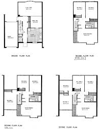 mid century modern floor plans appealing semi detached house plans with garage photos best idea