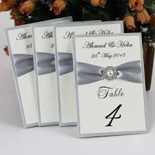 silver wedding table numbers lace wedding invitations free shipping
