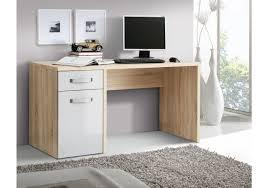Holz Schreibtisch Schreibtisch Weiss Hochglanz Sonoma Eiche Woody 77 00288 Woody